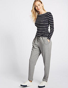 Textured Trousers, GREY MIX, catlanding