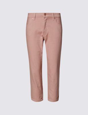 Укороченные джинсы скинии Relaxed M&S Collection T576679
