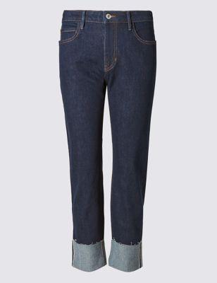 """Прямые джинсы """"индиго классик"""" с отворотами M&S Collection T576684"""