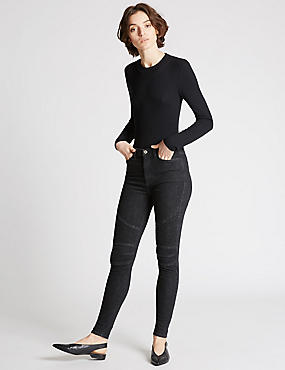 Moto Skinny Leg Jeans, BLACK MIX, catlanding