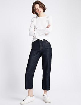 Jean large taille normale, INDIGO FONCÉ, catlanding