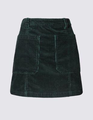 Вельветовая мини-юбка с накладными карманами Indigo Collection T576775R