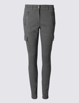 Хлопковые брюки чинос с карманами карго и карманами на молнии