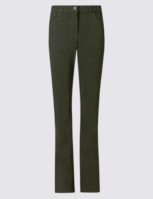 Хлопковые прямые брюки мультистретч с технологией Stay Soft