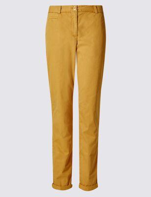 Классические брюки чинос из чистого хлопка M&S Collection T576861