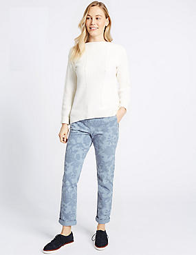 Cotton Rich Printed Chinos , BLUE MIX, catlanding