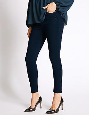 Bling Skinny Leg Jeans , INDIGO, catlanding