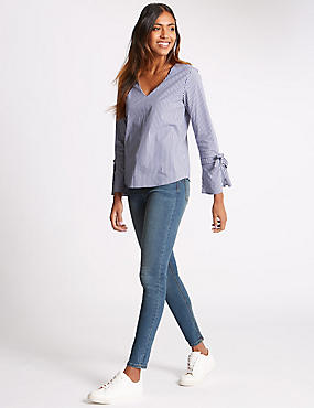 Sculpt & Lift Skinny Leg Jeans, BLUE DENIM, catlanding