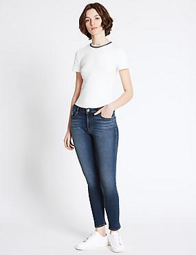 Low Rise Skinny Leg Jeans, MEDIUM INDIGO, catlanding