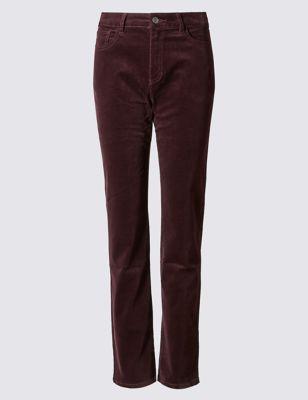 Прямые велюровые брюки от Marks & Spencer