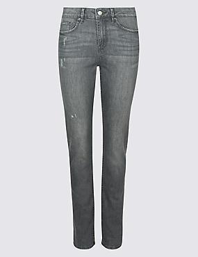 Mid Rise Slim Leg Jeans, GREY MIX, catlanding
