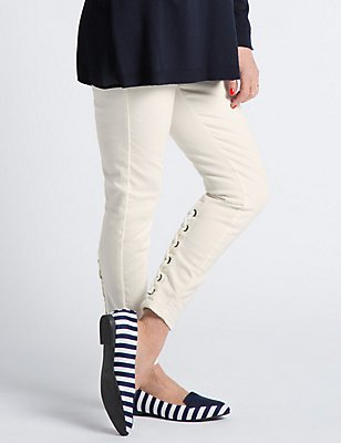 Lace Up Super Skinny Jeans, NATURAL MIX, catlanding