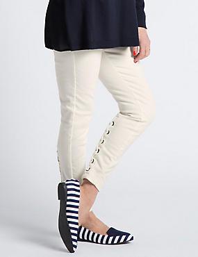 Lace Up Super Skinny Jeans, NATURAL MIX, catlanding