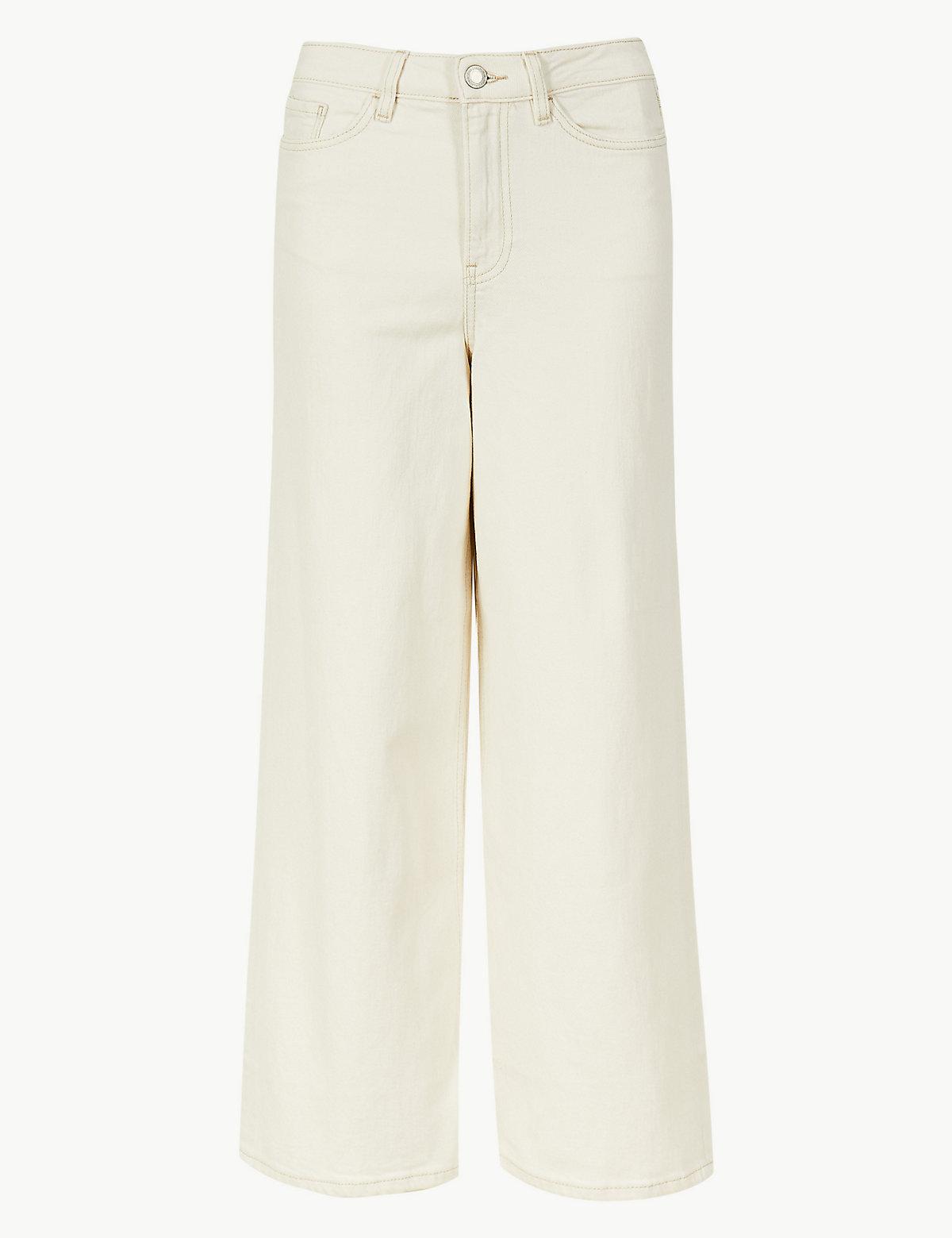 Женские джинсы укороченные с высокой талией
