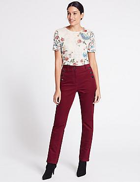 Pantalon droit en coton, BORDEAUX, catlanding