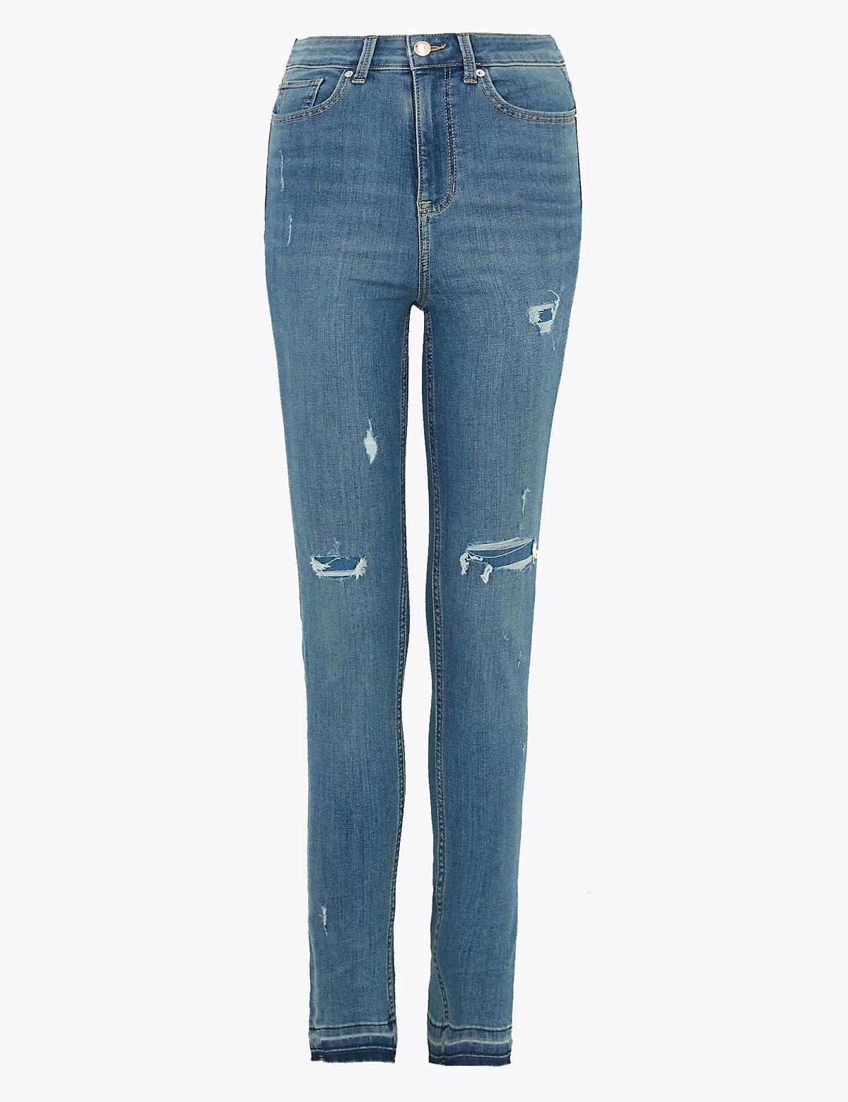 Рваные джинсы скинни Ivy с высокой талией