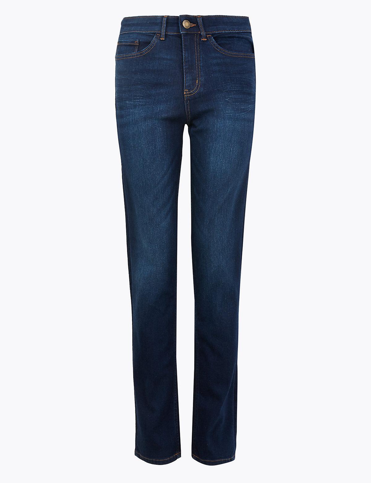 Прямые джинсы средней посадки