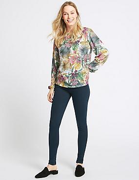 Mid Rise Skinny Leg Jeans, DARK NAVY, catlanding