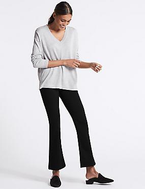 Sculpt & Lift Mid Rise Slim Boot Cut Jeans, BLACK, catlanding