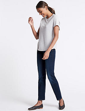 Sculpt & Lift Straight Leg Jeans, INDIGO, catlanding