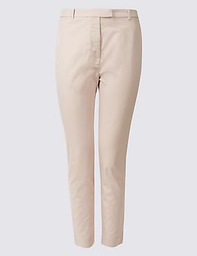 PLUS Cotton Rich Straight Leg Trousers, ALMOND, catlanding