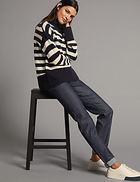 Mid Rise Relaxed Slim Jeans, BLUE, catlanding