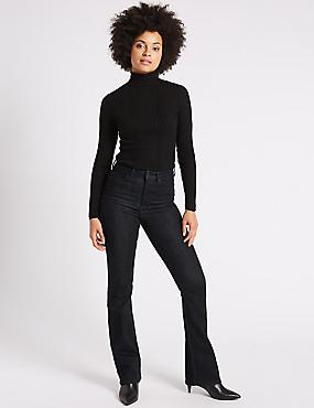Mid Rise Slim Bootcut Jeans, INDIGO MIX, catlanding