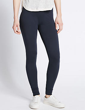 Basic Leggings, NAVY, catlanding