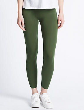 Basic Leggings, KHAKI, catlanding