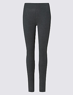 Cotton Rich Leggings, CHARCOAL, catlanding