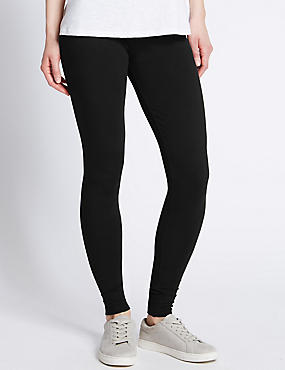 Basic Leggings, BLACK, catlanding