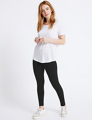 PETITE Cotton Rich Core Leggings, BLACK, catlanding