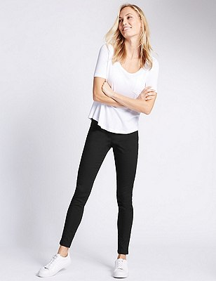 Pull On Jeggings, BLACK, catlanding