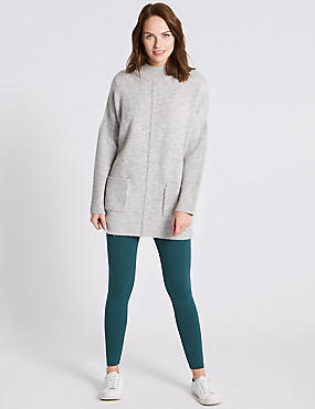 Cotton Rich Core Leggings, GREEN, catlanding
