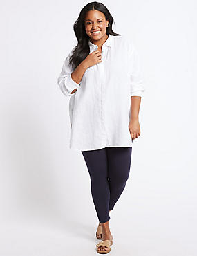 PLUS Cotton Rich Leggings , NAVY, catlanding