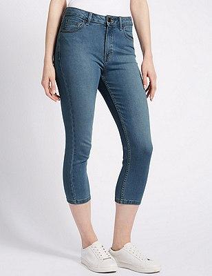 Super Skinny Cropped Jeans, DENIM, catlanding