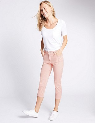 Cropped Jeggings, PEACH, catlanding