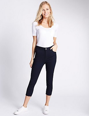 Super Skinny Cropped Jeans, INDIGO, catlanding