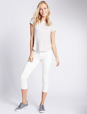 Super Skinny Cropped Jeans, WHITE, catlanding
