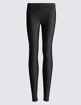 Cotton Rich Cord Leggings, BLACK, catlanding