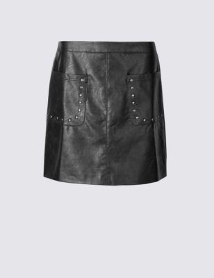 Мини-юбка А-силуэта с заклепками Indigo Collection T578526N
