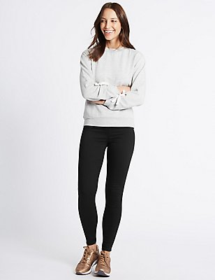 Cotton Rich Jeggings, BLACK, catlanding