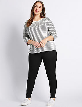 PLUS Cotton Rich Jeggings, BLACK, catlanding