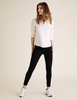 PETITE Cotton Rich Jeggings, BLACK, catlanding