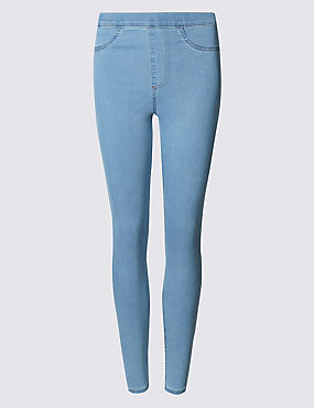 Cotton Rich Jeggings, PALE BLUE, catlanding