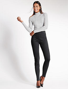 Pull-On-Jeggings, GRAU, catlanding