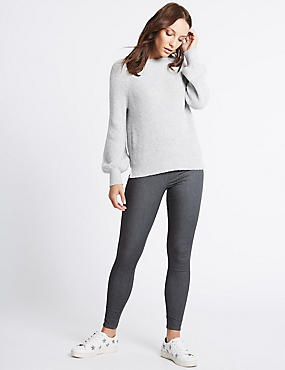 Cotton Rich Jeggings, DARK GREY, catlanding