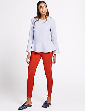 High Rise Super Skinny Jeans, RED, catlanding
