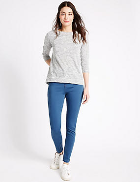 High Rise Super Skinny Jeans, BRIGHT BLUE, catlanding