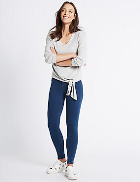 High Waist Super Skinny Jeans, MED BLUE DENIM, catlanding